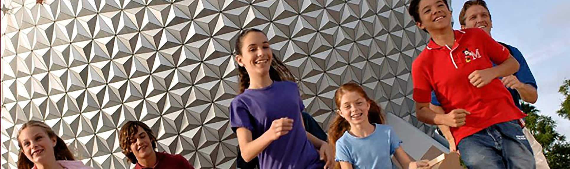 Smiling children at Epcot