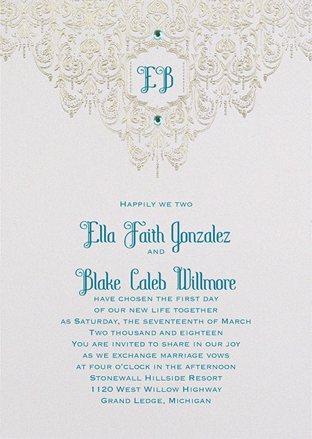 Jasmine Bohemian Chic Invitations