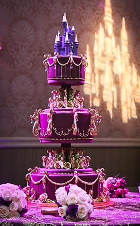 disney fairytale wedding cakes wedding cake wednesday purple dazzler disney weddings 13551
