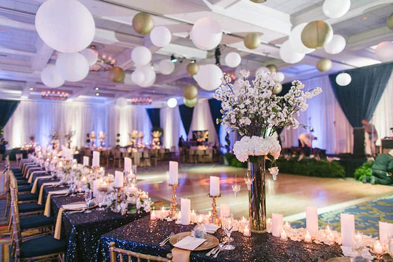 Disney weddings 2018 decor trends disney weddings take advantage of all the incredible space above your heads twinkling lights flowing fabric lanterns or cascading flowers are a beautiful way to enhance junglespirit Image collections