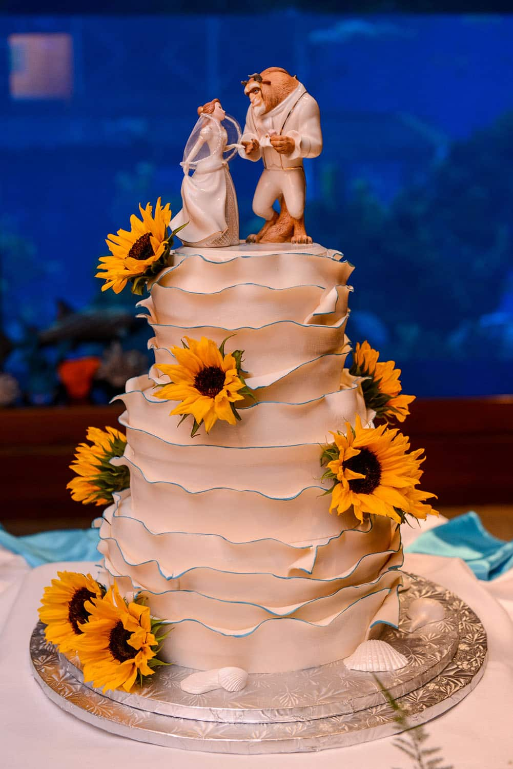 beauty and the beast wedding cake wedding cake wednesday and the beast sunflowers 1623