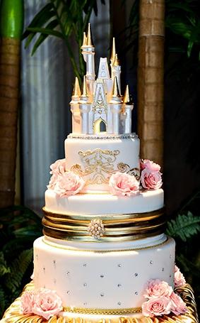 Wedding Cake Wednesday: Pink + Gold Soiree   Disney Weddings  Disney ...