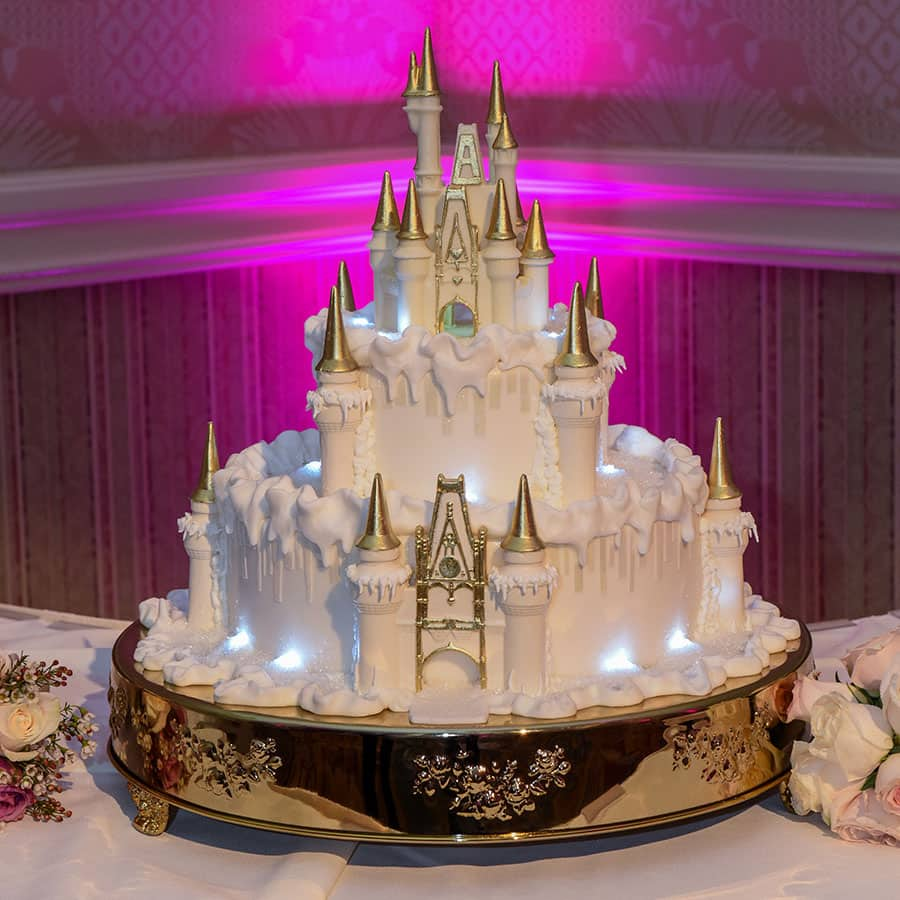 disney fairytale wedding cakes wedding cake wednesday wintertime at cinderella castle 13551