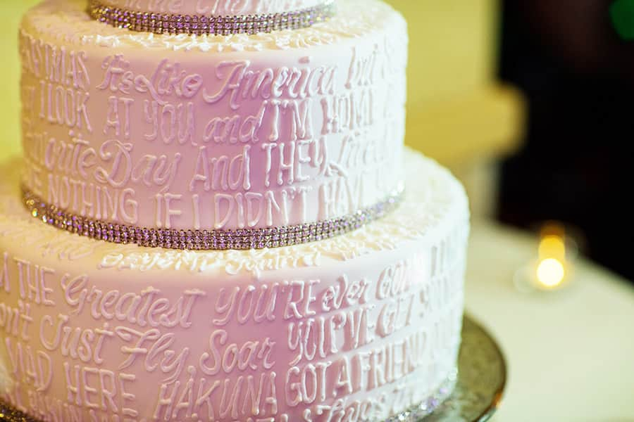 Elegant Way To Show Off A Touch Of Disney For Those Who Don T Want Go Over The Top Just Look At Photos This Cake Says It All Literally