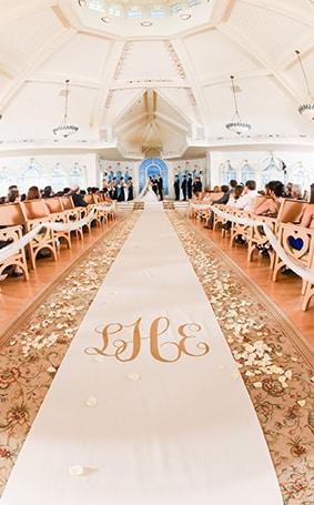 Ceremony Decor: Custom Aisle Runners   Disney Weddings